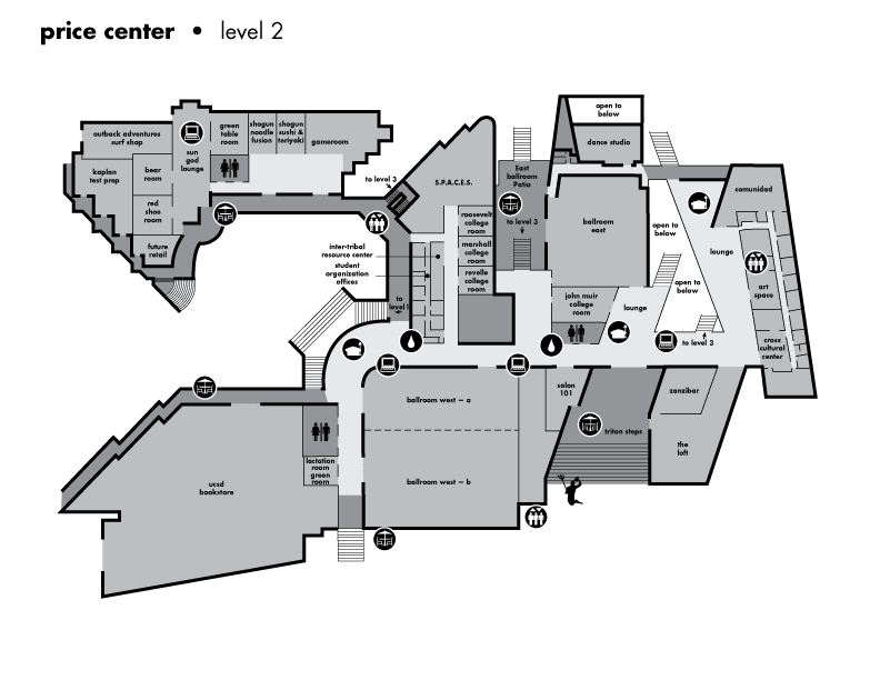 Map of Price Center, Level 2